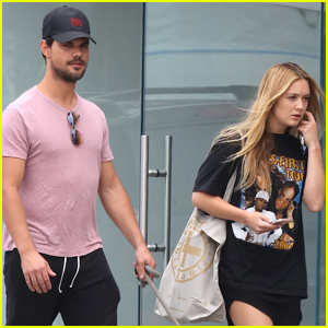 Billie Lourd & Taylor Lautner Couple Up For Afternoon Date in LA