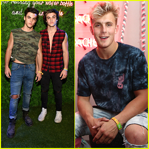 Grayson & Ethan Dolan Meet Up With Jake Paul at Coachella