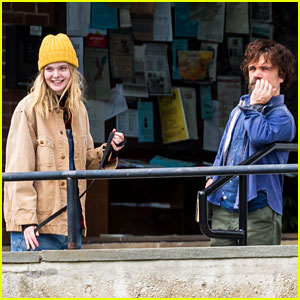 Elle Fanning Films Her New Apocalypse Movie with Co-Star Peter Dinklage!