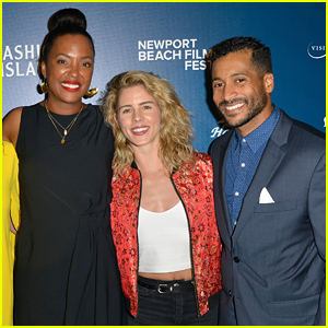 Emily Bett Rickards Steps Out For Rare Appearance at Newport Beach Film Festival