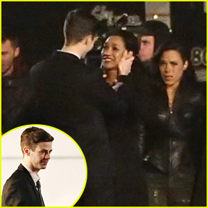 Grant Gustin & Candice Patton Film Emotional Scenes For 'The Flash'