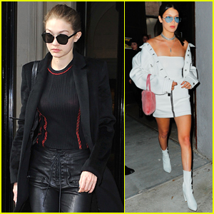 Gigi & Bella Hadid Step Out Separately in Different Parts of the World