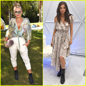 Hailee Steinfeld & Alli Simpson Get Cool At Winter Bumbleland Coachella Party