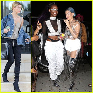 Hailey Baldwin Channels Future Space Fashion For SimiHaze's Birthday