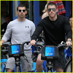 Joe & Nick Jonas Are One Hot Bike-Riding Duo!