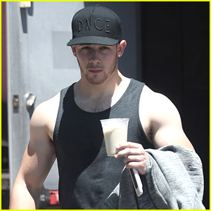 Nick Jonas Gets In a Workout Ahead of RDMAs 2017