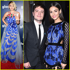 Victoria Justice Meets Up With Josh Hutcherson At GLAAD Media Awards 2017