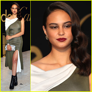 Courtney Eaton Steps Out To Celebrate at the Panthere De Cartier Party