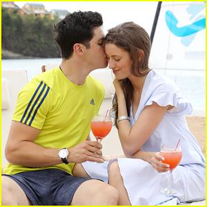 David Henrie & New Wife Maria Honeymoon in St. Lucia - Pics!