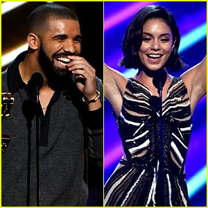 Vanessa Hudgens Looks Incredible, Drake Says at BBMAs! (Video)