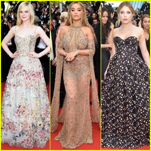 Elle Fanning Goes Floral at Cannes Film Festival 2017