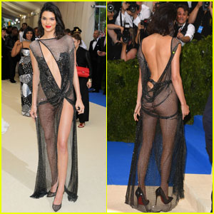 Kendall Jenner Gets Cheeky at Met Gala 2017