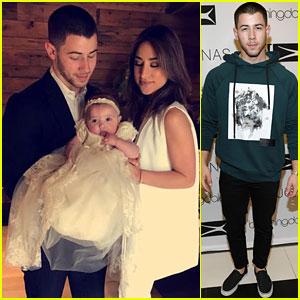 Nick Jonas Becomes a Godfather to Niece Valentina