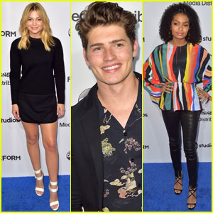 Olivia Holt & Yara Shahidi Promote Their New Shows at ABC Disney Upfront