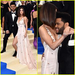 Selena Gomez & The Weeknd Make Red Carpet Debut at Met Gala 2017