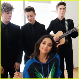 Why Don't We Serenades Shay Mitchell With Their Killer Harmonies (Video)