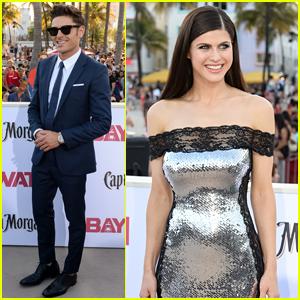 Zac Efron & Alexandra Daddario Attend the 'Baywatch' Premiere