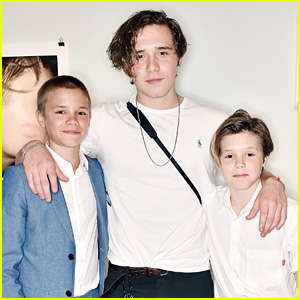 Brooklyn Beckham's Brothers Join Him at Book Launch Event!