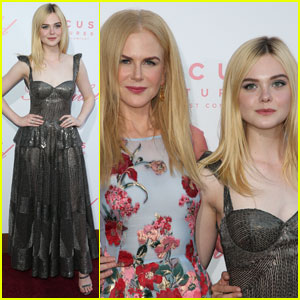 Elle Fanning Holds Hands With Nicole Kidman at 'The Beguiled' Premiere
