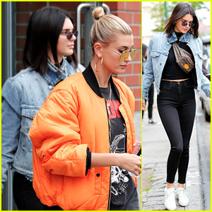 Hailey Baldwin & Kendall Jenner Head to Church Together