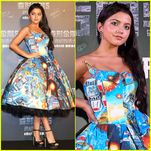 Isabela Moner Wears Optimus Prime Dress For 'Transformers' Premiere in China!