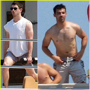 Nick & Joe Jonas Put Their Ripped Muscles on Full Beautiful Display