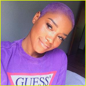 Keke Palmer Shaved Her Hair, Dyed It Purple & It Looks So Fierce!