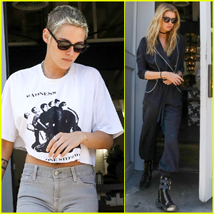 Kristen Stewart & Stella Maxwell Step Out for Lunch Date