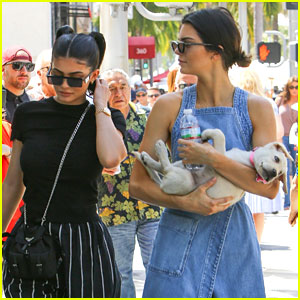 Kylie & Kendall Jenner Bring Adorable Puppy Along For Father's Day Outing with Caitlyn Jenner