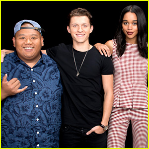 Tom Holland, Laura Harrier, & Jacob Batalon Join Forces for Build Series Interview