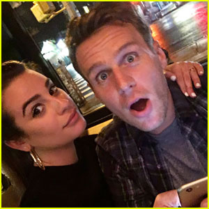 Lea Michele Reunites With 'Glee' Co-Star & BFF Jonathan Groff in NYC