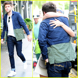 Niall Horan Shares Hug With Mystery Woman