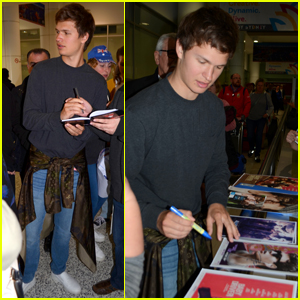 Ansel Elgort Arrives in Australia For 'Baby Driver' Premiere