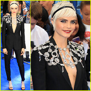 Cara Delevingne Looks Fierce in a Suit at 'Valerian' European Premiere!