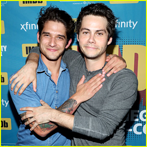 Teen Wolf's Tyler Posey & Dylan O'Brien Hug It Out at Comic-Con