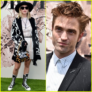 Jennifer Lawrence & Robert Pattinson Celebrate at Dior's Paris Show