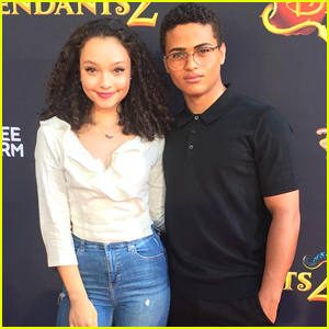 Disney Stars Kayla Maisonet & Nathaniel Potvin Make Red Carpet Debut at 'Descendants 2' Premiere
