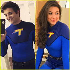 Kira Kosarin & Jack Griffo Wear Their 'Thundermans' Suits For the Very Last Time