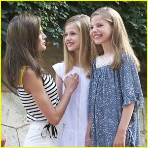 Princesses Leonor & Sofia of Spain Show Off Cute Summer Style For Mallorca Photo Call
