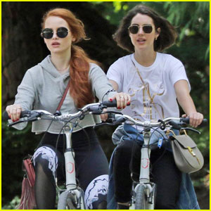 Madelaine Petsch & Adelaide Kane Go Bike Riding Together in Vancouver!