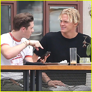Brooklyn Beckham & Cody Simpson Are Deep in Convo at Lunch
