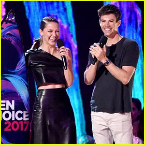 Superhero Stars Grant Gustin & Melissa Benoist Both Win at Teen Choice Awards 2017!
