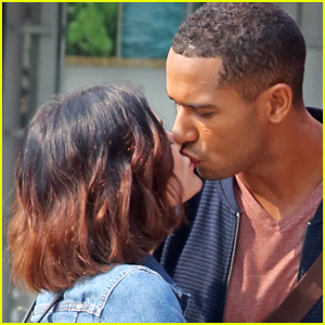 Lucy Hale & Elliot Knight Share Some Kisses on the 'Life Sentence' Set