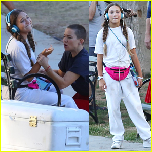Maddie Ziegler Continues Filming 'Sister' with Kate Hudson