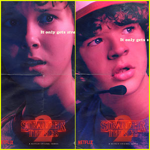 Millie Bobby Brown & Gaten Matarazzo Star On 'Stranger Things' Season 2 Posters!