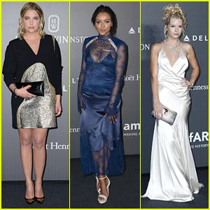 Ashley Benson, Lottie Moss & Kat Graham Glam Up For amfAR Gala During Milan Fashion Week