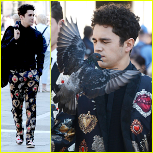 A Pigeon Almost Flew Into Austin Mahone's Mouth During a D&G Photoshoot in Venice