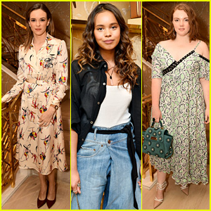 Danielle Panabaker, Alisha Boe, & Shannon Purser Team Up for Glamour x Tory Burch Event