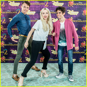 Dove Cameron Reunites With Thomas Doherty & Cameron Boyce for 'Descendants 2' Press in Amsterdam