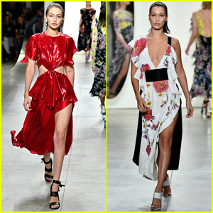 Gigi & Bella Hadid Slay the Prabal Gurung Fashion Show